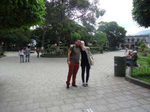 Andrea og Christian i parken
