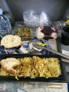 1 av fly mat som ble servert fra Amsterdam til Tanzania