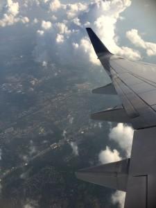 Bra utsikt over New York! På vei mot Houston