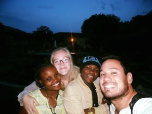 Og til slutt et bilde av Dorcus, meg, Paulo og Christian.