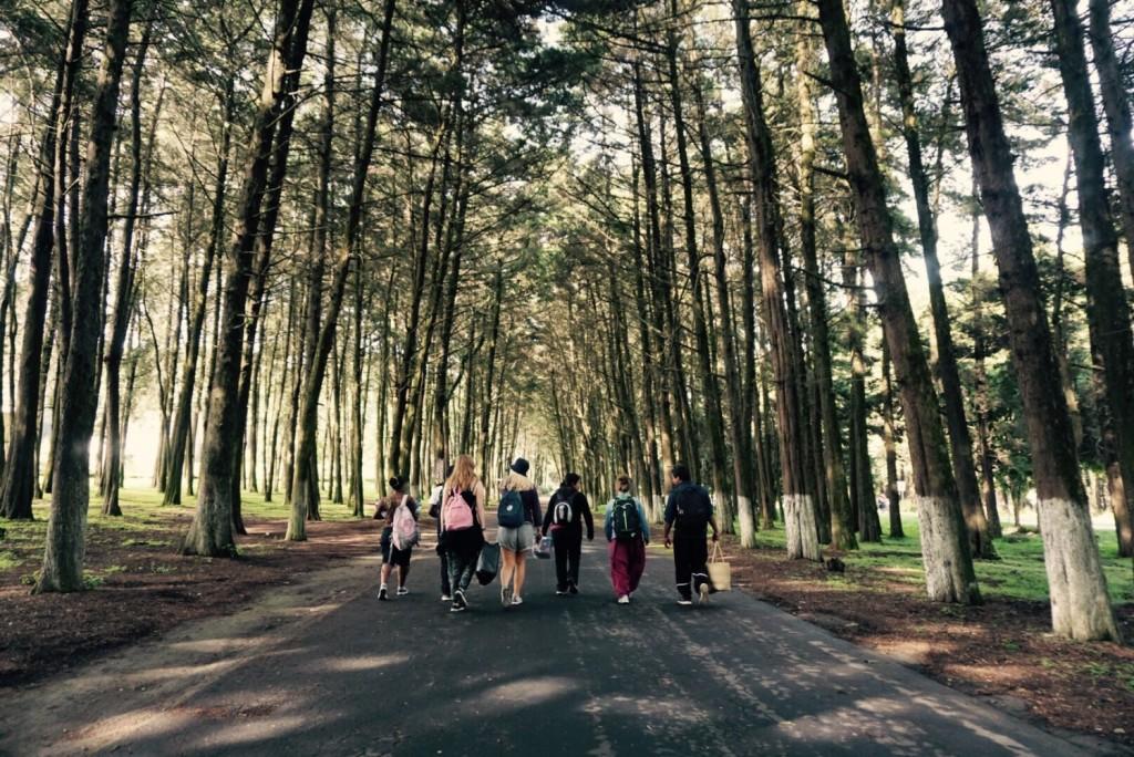 På vei til Florencia, en stor park, for å gjøre forskjellige aktiviteter yeeey.