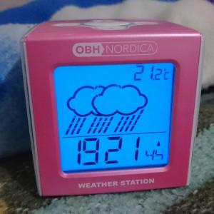 Så klart er klokka rosa. Man kan jo ikke bli annet enn glad når man ser rosa kan man?