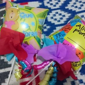 Mens jeg skrev dette innlegget fikk jeg besøk av søteste Thea og Andrea som hadde med seg disse ballongene til meg <3