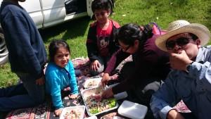 På piknik med familien på 1. november.