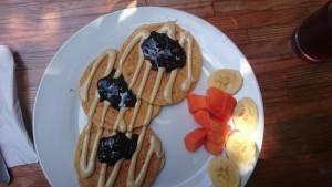 Pannekaker av mel laget av macadamianøtter.